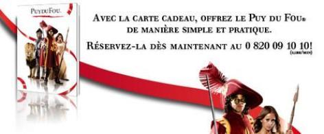 carte cadeau puy du fou Puy du Fou : Carte Cadeau   Ambassadeur du Puy du Fou et de la