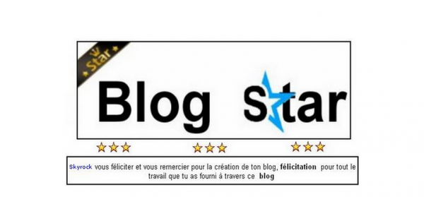Blog Star!?