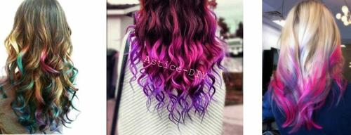 tuto la craie pour cheveux - Coloration Craie Cheveux