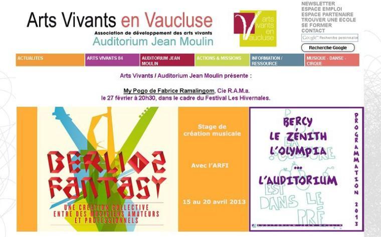 A la découverte du web - Les arts vivants en Vaucluse :