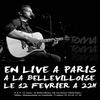 TOMA EN LIVE LE 12 FEVRIER A LA BELLEVILLOISE