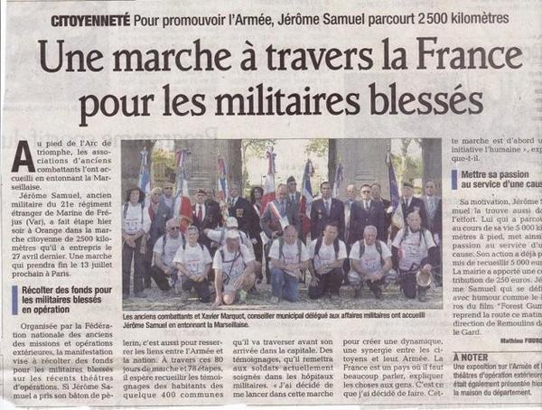Marche De Solidarité Citoyenne Pour Le Lien Armée-Nation
