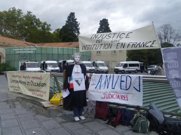 Monptellier - Hérault - 34 - FRANCE - le  27 octobre 2012 Journée Européene de la Justice Civile