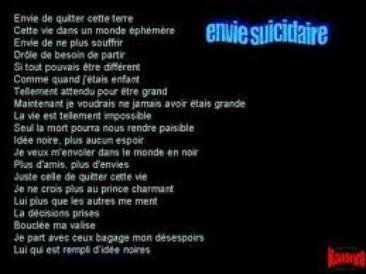 Envie Suicidaire Blog Poèmes Citations