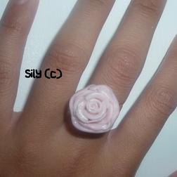 Bague - Rose simple (couleurs au choix)