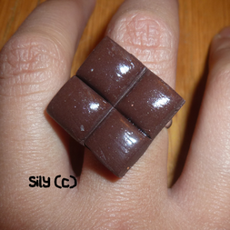 Bague - Carré de chocolat