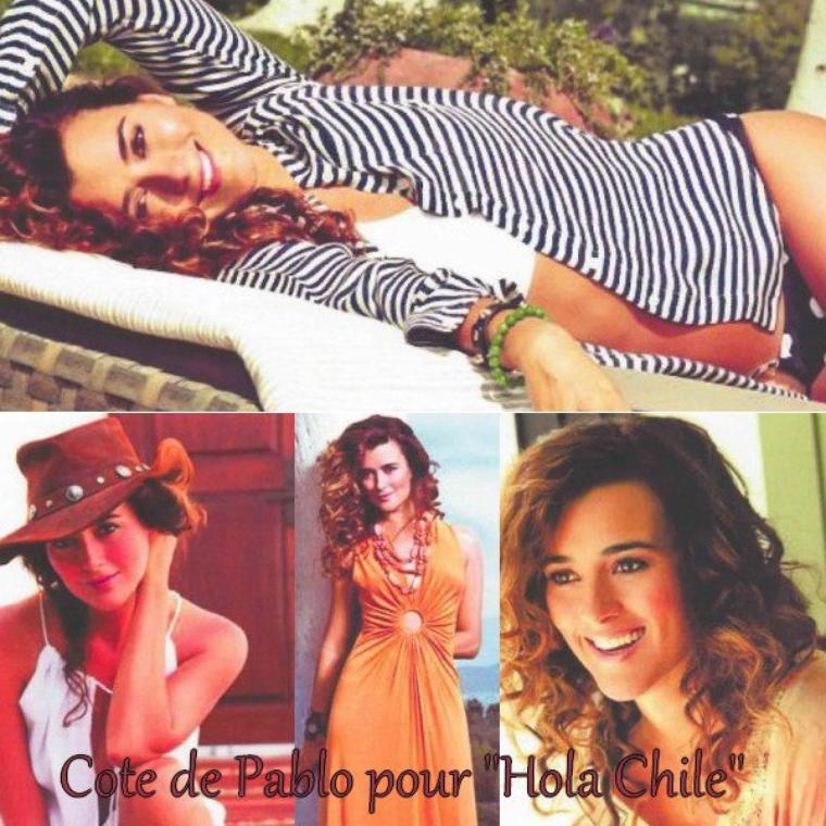 » Cote fait la Une de ¡Hola! Chile