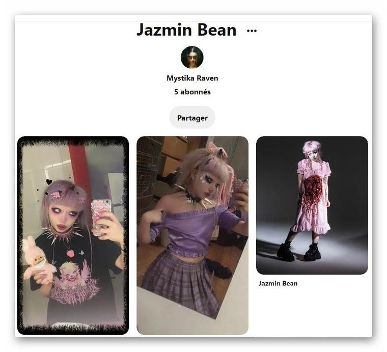 Ma collection de photo de Jazmin Bean sur mon Pinterest