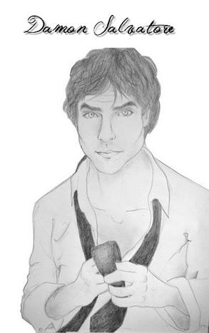 Portrait d 39 acteurs sp cial vampire diaries d couvre tous mes conseils de dessin en ligne - Dessin vampire diaries ...