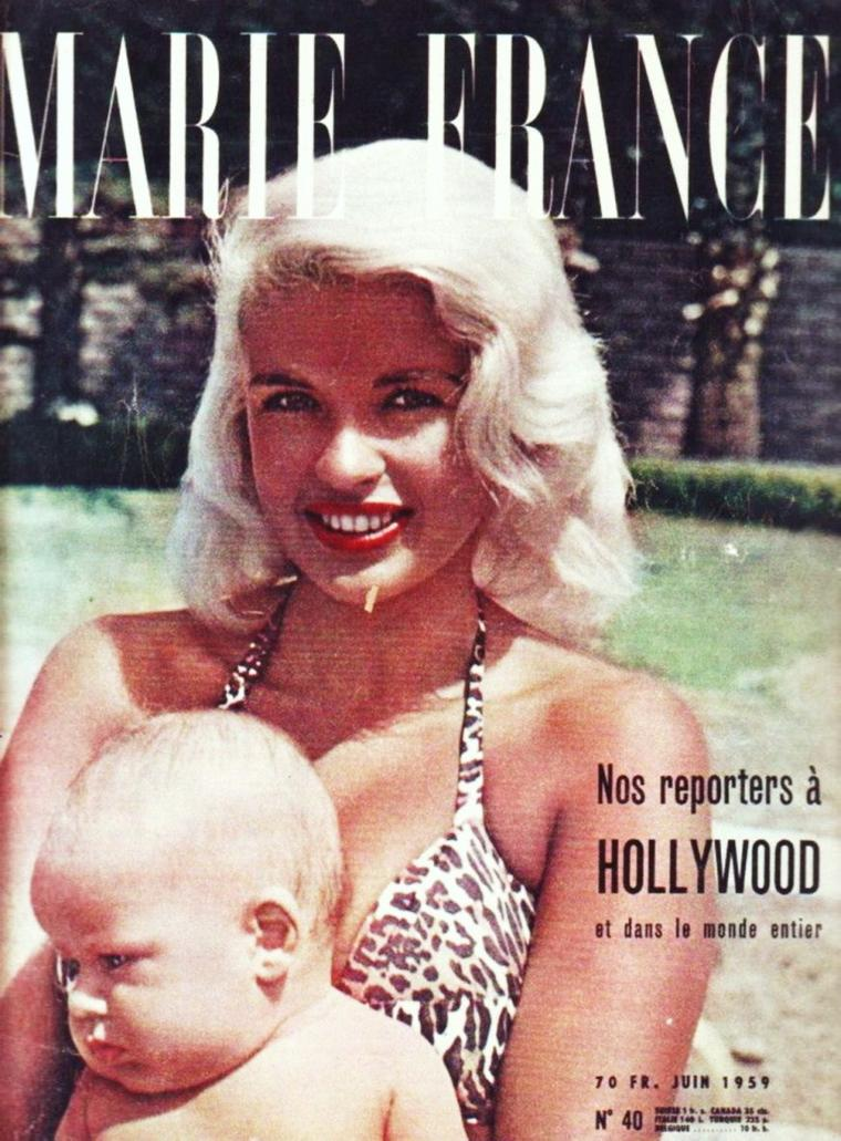 LES COVERS de l'été... (de haut en bas) Betty GRABLE / Jayne MANSFIELD / Janet LEIGH / Mitzi GAYNOR / Anita EKBERG / Barbara HALE / Doris DAY / Sheree NORTH