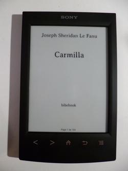 Liseuse électronique, review & Carmilla, Joseph Sheridan Le Fanu
