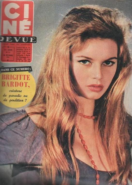 portrais studio de Brigitte Bardot vers 1956