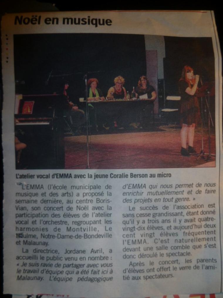 Concert du 18 Décembre.