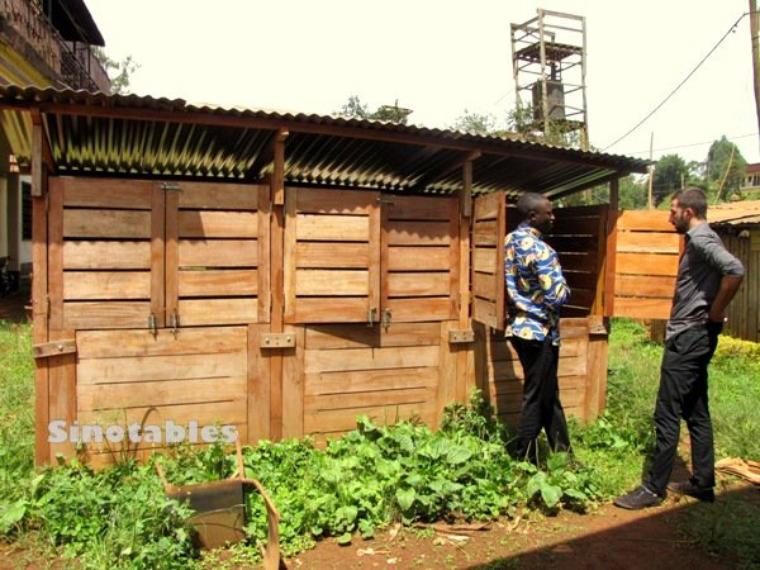 Gestion des déchets à Dschang : le pari des compostières communautaires.