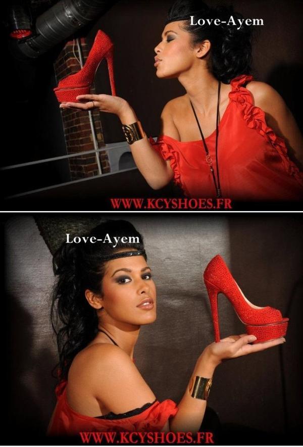 PhotoShoot d'Ayem : Elle pose pour Kcyshoes