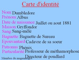 Personnage: Albus Perceval Wulfric Brian Dumbledore