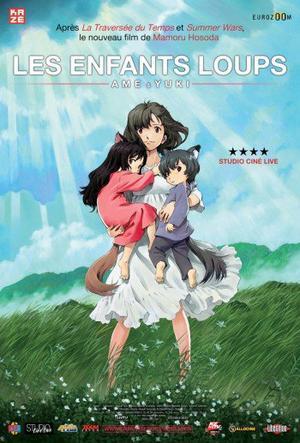 Film d'animation/Manga Les enfants loups, Ame et Yuki 117 minutes[Drame et Fantastique]