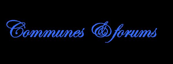 Pub communes & forums