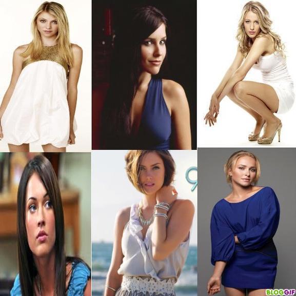 Taylor Momsen-Sophia Bush-Blake lively-Mégan Fox-Hayden penetierre $)