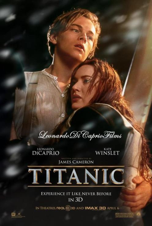 Apparition de l'affiche en 3D de Titanic. ♥