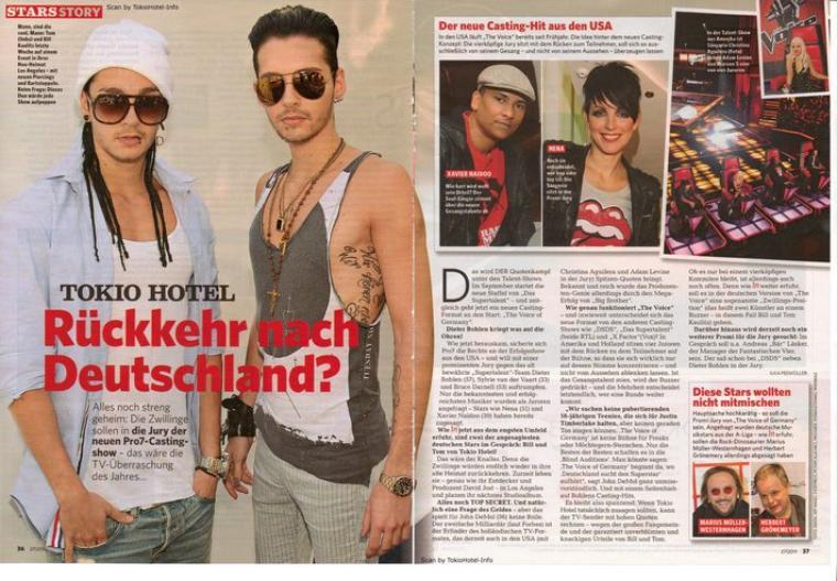 """IN"" n° 27/2011 (Allemagne) - Tokio Hotel : De retour en Allemagne ?"