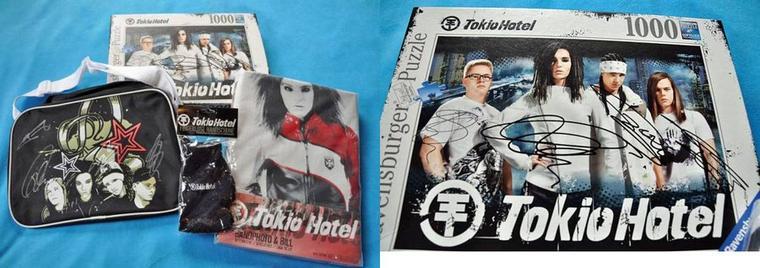 Accessoires de Tokio Hotel aux enchères pour le Japon