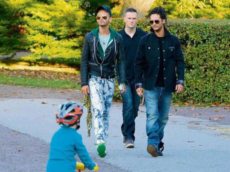 Les Jumeaux avec des fans à Bad Driburg, Allemagne, cette semaine.