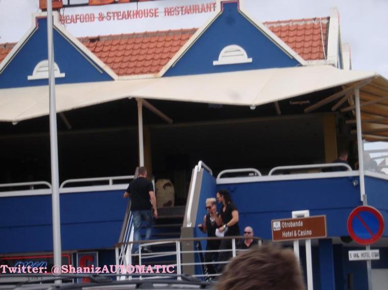 Bill et Tom à Willemstad, à Curaçao (12.11.12)
