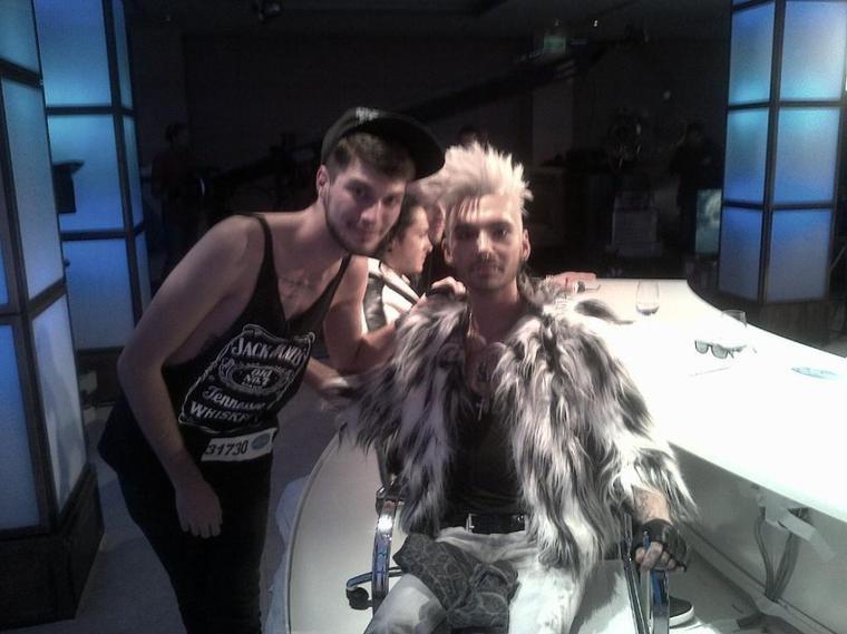 Bill et Manuel Caggegi pendant le casting de DSDS à Berlin, en Allemagne (24.09.12)