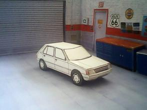 Peugeot 205, 5 portes maquette (by me)