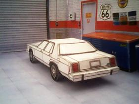 Ford LTD Crown Victoria 1983 maquette résultat (by me)