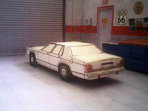 Ford LTD Crown Victoria 1988 maquette résultat (by me)