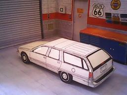 Buick Roadmaster Estate 1991 maquette résultat (by me)