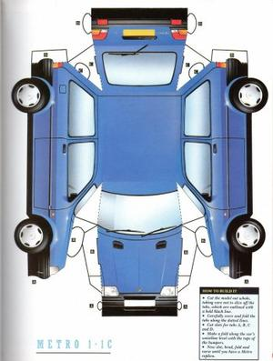 Austin Metro / Rover 100 maquette / paper model