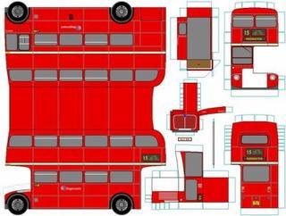 AEC Routemaster maquettes / paper models