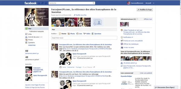 Actifs sur facebook !