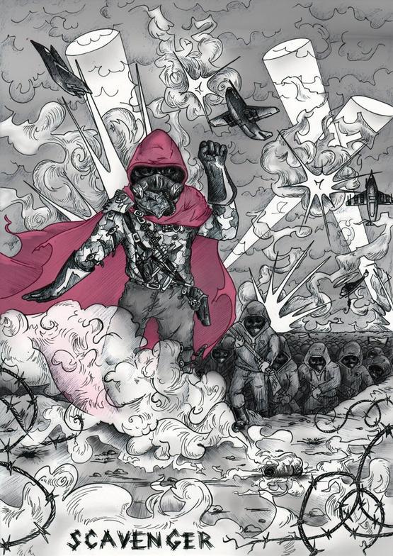 Scavenger : la vengeance drapée rouge