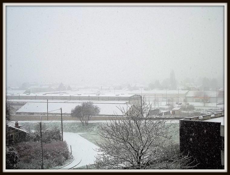 voila la neige qui a finit de tomber pour aujourdhui