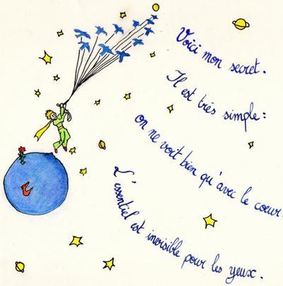 Carte de voeux Petit Prince