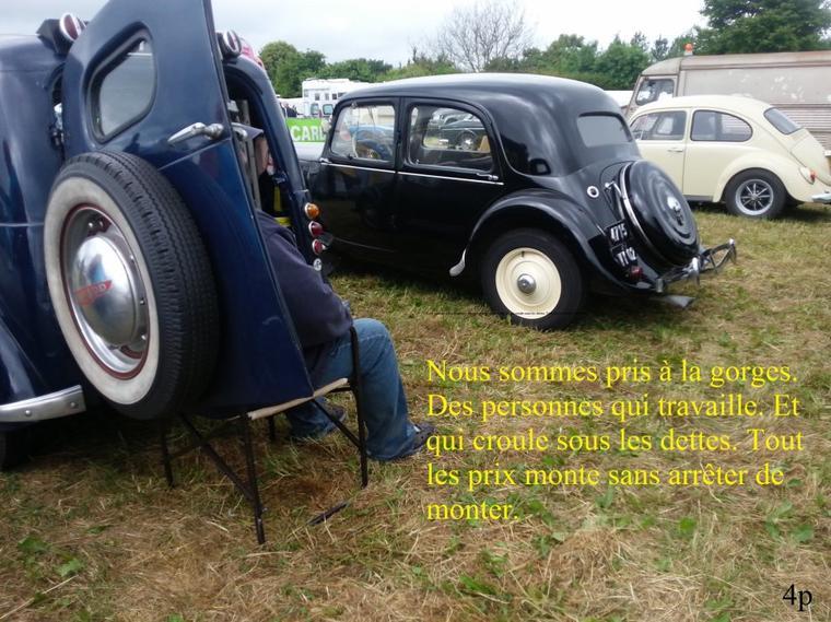 De garder une ancien voiture. C'est de gardez notre liberté. Laissé les ancien voiture de notre ancêtre. C'est perdre notre liberté et nos souvenir.  1er parti