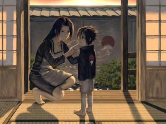 sasuke et sa mere