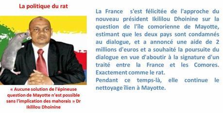 Comores / France : Le rat a-t-il mordu Ikililou ?