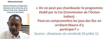 """Comores"" vs ""Mayotte"" : Allons-nous lâcher Madi Mari?"