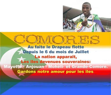 JIOI /Première médaille d'or comorienne : Djamchi honore le drapeau des 4 îles Comores