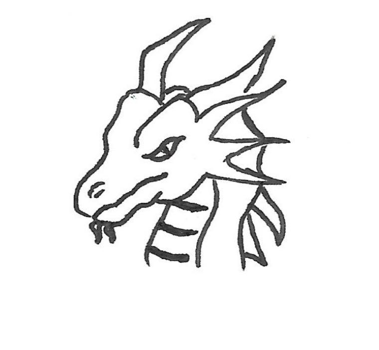 Petit dragon illustrant un texte ^-^