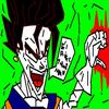 incroiyable la fusion de goku et vegeta fait avec paint