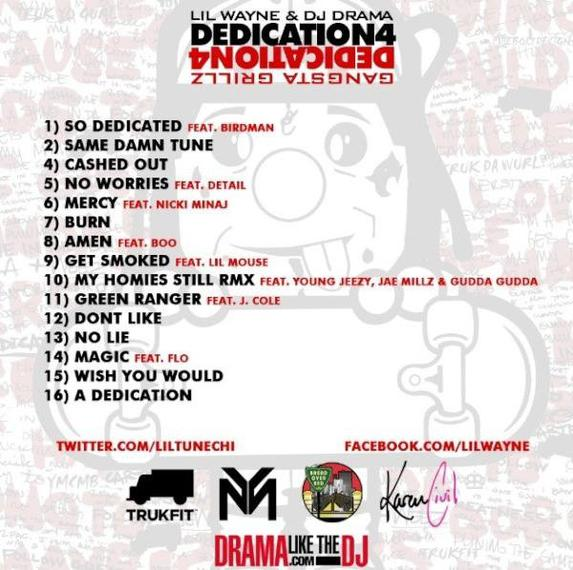 Dedication 4 de Lil Wayne est sorti!