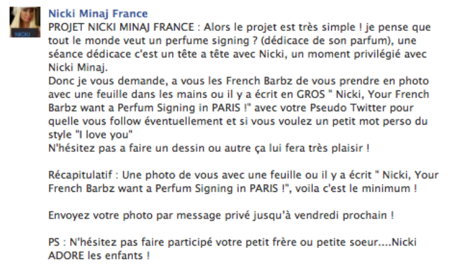 "Projet ""Perfume Signing"""