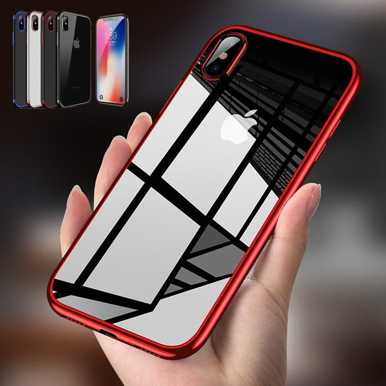 Housse Soft Etui Coque Bumper Antichocs Case Cover pour Apple iPhone X 8 + Film | eBay