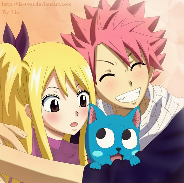 Natsu x Lucy and Happy: The best team by ~Liz-050 on deviantART
